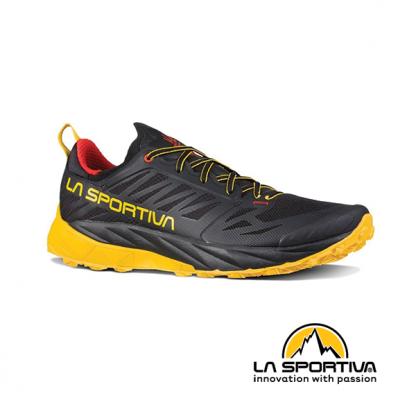 sepatu trail running kaptiva warna black yellow